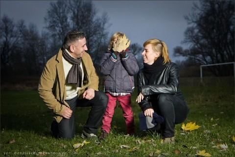 Dagmara i Tomek - wieczorna sesja rodzinna