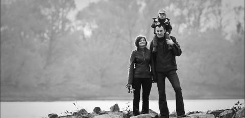 Piotr i Magdalena - sesja rodzinna nad Wisłą